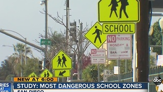 Study looks at San Diego's most dangerous school zones