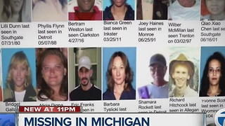 Missing in Michigan: Families continue their search for loved ones - Video