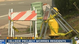 Hillside project worries residents - Video