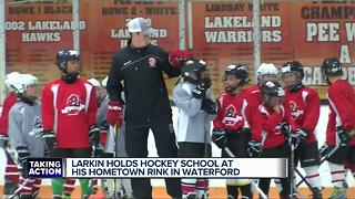Larkin holds hockey school at his hometown rink in Waterford