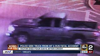 Police seek truck from hit & run fatal accident - Video