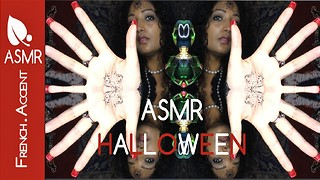 ASMR [french accent] HALLOWEEN physical sleep hypnosis roleplay soft spoken & chant - Video