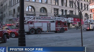 Milwaukee Fire Department responds to building fire call at the Pfister Hotel