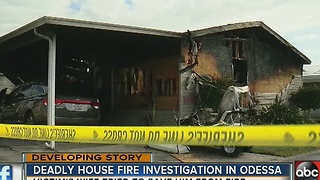 Odessa house fire kills one person - Video