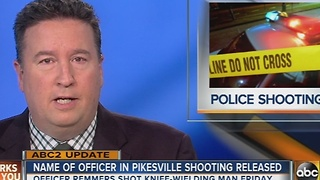 Officer who shot knife-wielding man in Pikesville identified - Video