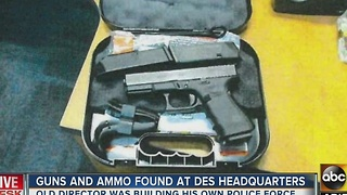 Guns, ammo seized from government building - Video