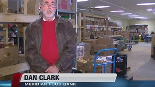Meridian food bank distribution threatened by snow, but volunteers help dig them out - Video