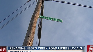 Residents Upset About Proposed Name Change To Negro Creek Road