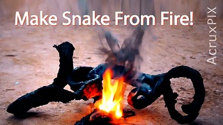 Make Snake From Fire!  - Video