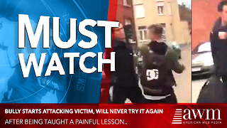 Bully Starts Attacking Victim, Will Never Try It Again After Being Taught Painful Lesson - Video