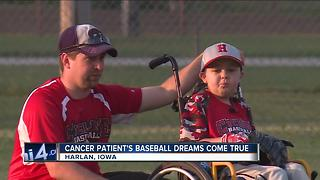 Baseball Dreams Come True Despite Cancer Treatment - Video