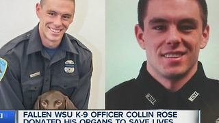 Officer Collin Rose saves lives through organ donation - Video