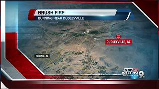 Brush fire destroys homes in Dudleyville in Pinal Country