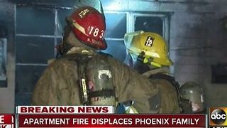 Condo fire leaves family displaced in Phoenix overnight - Video