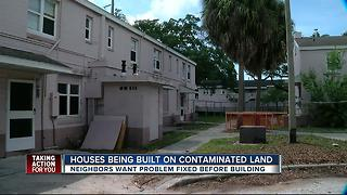 Houses being built on contaminated land in Tampa's West River - Video