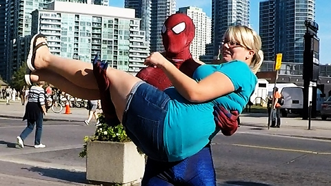 Toronto's Spider-Man demonstrates how to be a pickup artist
