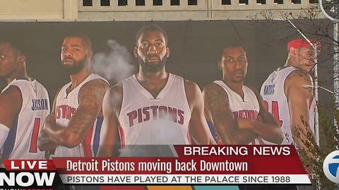 Detroit Pistons moving downtown