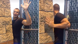 Rob Gronkowski Sneaks onto High School Football Field for Workout - Video