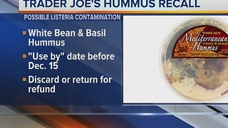 Trader Joe's recalling hummus - Video
