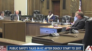 Public safety talks in KC after deadly start in 2017 - Video
