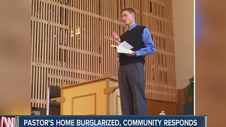 Pastor's home burglarized while he's preaching Sunday morning - Video