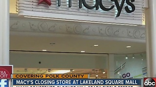 Lakeland suffers blow after anchor store at city's only indoor mall announces it's closing - Video