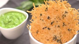 Garlic Basil Parmesan Crisps - Video