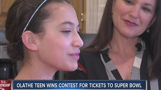 Olathe girl wins Super Bowl tickets - Video