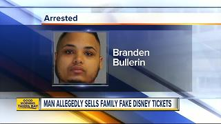 Florida man arrested for selling family fake Disney tickets