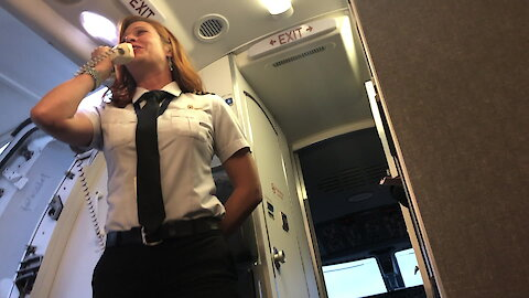 Airline captain forgets her flight number