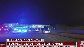 1 In Custody After Pursuit Ends At Nashville Airport - Video