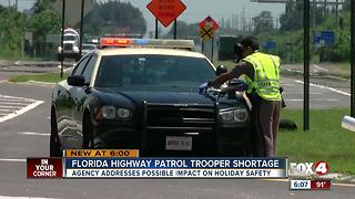 Florida High Patrol addresses trooper shortage and its possible impact on holiday safety - Video
