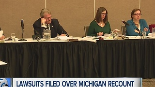 Lawsuits filed over Michigan recount