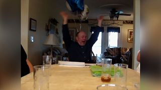 Soon To Be Grandpa Get's Birthday Surprise - Video