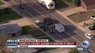 Jefferson County deputy exchanges gunfire with suspect during eviction service in Arvada - Video