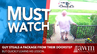 Package Thief Quickly Learns His Lesson - Video