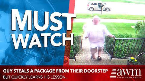 Package Thief Quickly Learns His Lesson