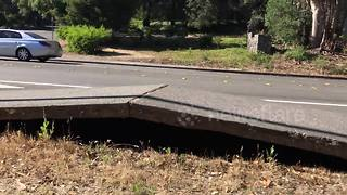 Extreme heat makes pavement buckle in California - Video