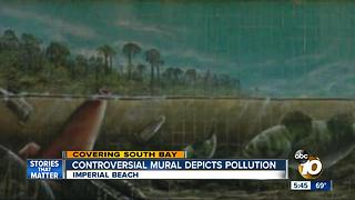 Controversial mural depicts pollution - Video