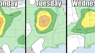 Severe storms are back again this week - Video