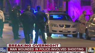 Man wounded in police-involved shooting - Video