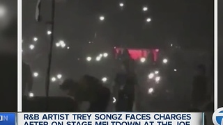 Singer Trey Songz facing assault charges after meltdown at the Joe Louis Arena - Video