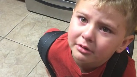 Toddler Wants To Go To School, So He Asks Mom For Some Help
