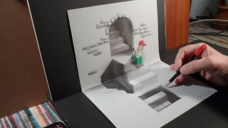 How to draw a 3D staircase - Video