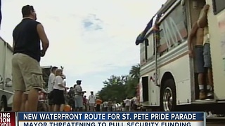 New waterfront route for St. Pete parade, Mayor threatening to pull funding - Video