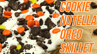 Cookie Nutella Oreo Skillet Recipe - Video