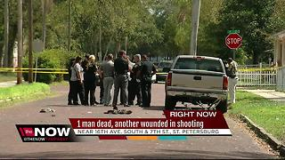 1 dead, 1 injured in double shooting in St. Pete - Video
