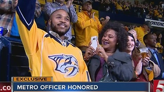 MNPD Officer Recognized During Preds Game - Video