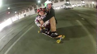 Father and Daughter Go Longboarding - Video