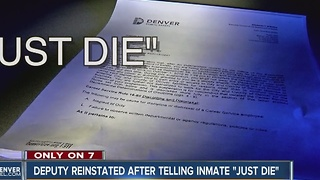 Deputy reinstated after telling inmate